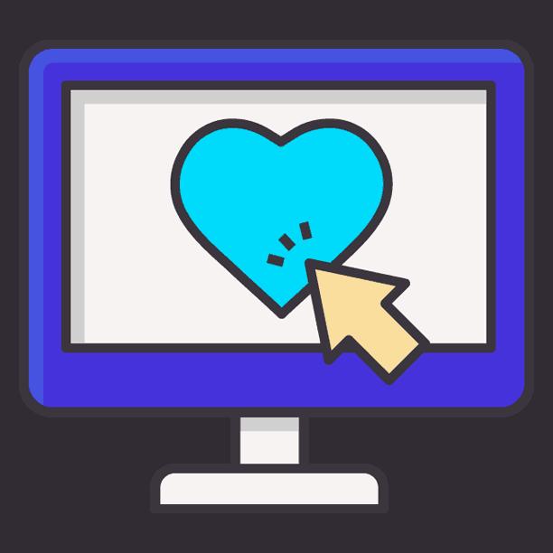 heart in monitor